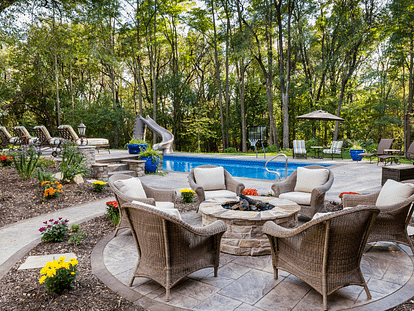 firepit by the pool