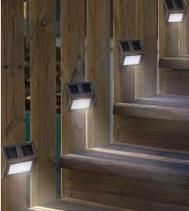 Lights on railing