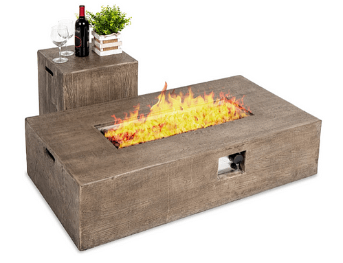 Best Choice Products Propane Fire Pit Table