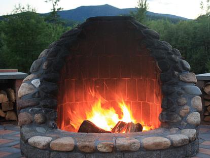 round stone firepit