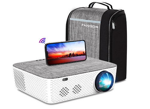 Projector with bag