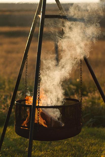 hanging firepit