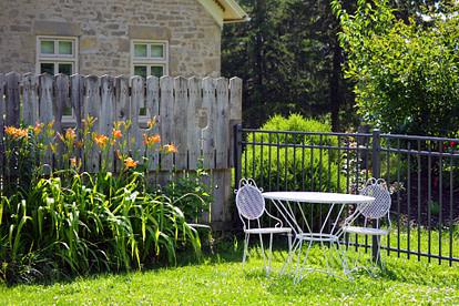 backyard tea table