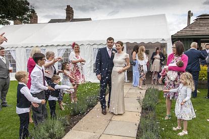 backyard wedding tent