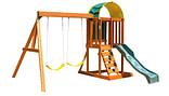 Backyard wooden playset