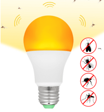 Yellow bulb that is bug repellant