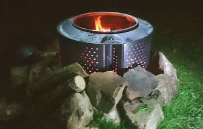 washing machine drum firepit