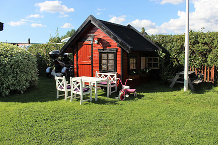Backyard shed playhouse
