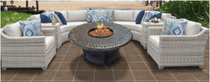 Furniture in backyard