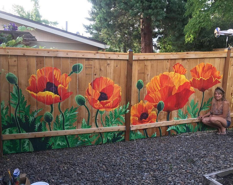 Mural on a fence