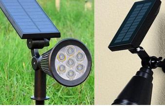 Solar powered path ligts