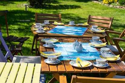 backyard tea party set