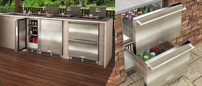Kitchen with cold storage