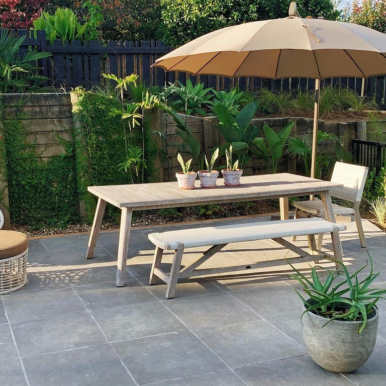 Furniture on some outdoor pavers
