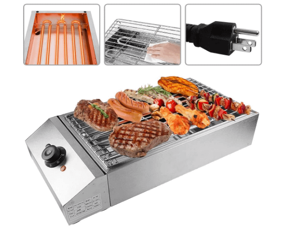 Counter top electric grill