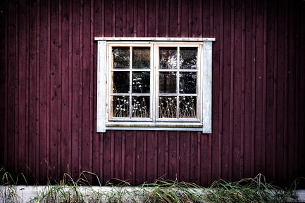 Vibrant color shed window