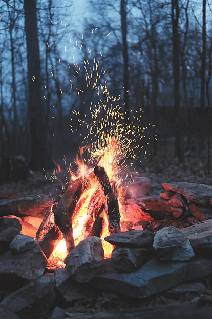 stacked firepit