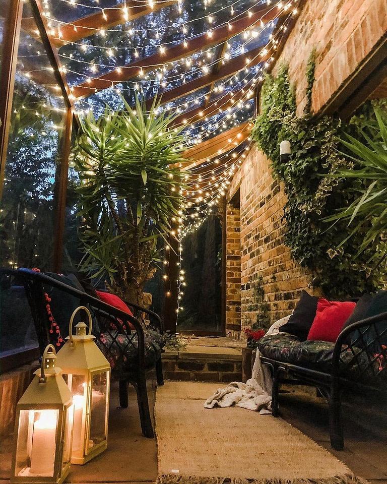 Lights in backyard