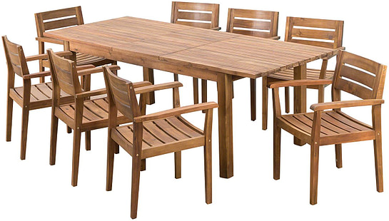 large outdoor dining set