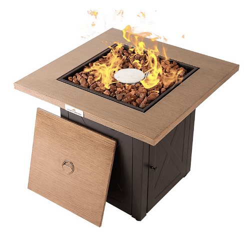 LEGACY HEATING 28 Inch Outdoor Gas Propane Fire Pit