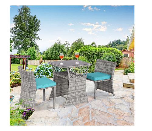 Beautiful backyard patio dining set