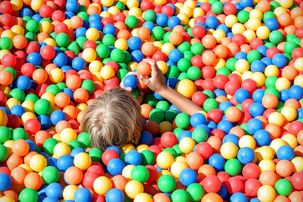 Kid in a ball pit
