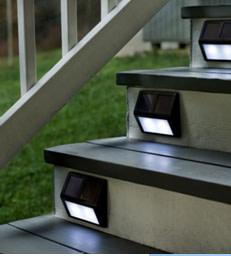 Solar lights on steps