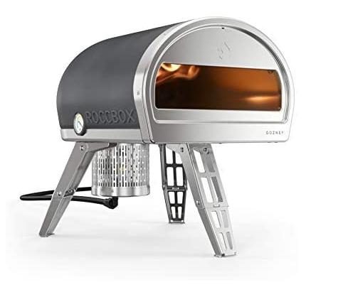 Metallic pizza oven