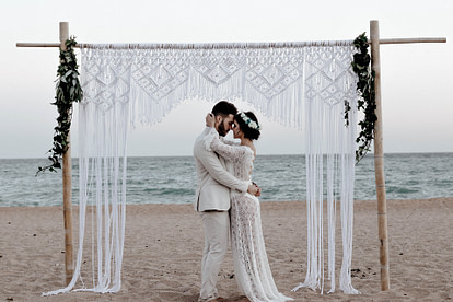 marriage under a gazebo