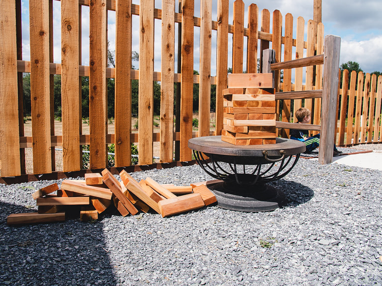 Giant Jenga logs