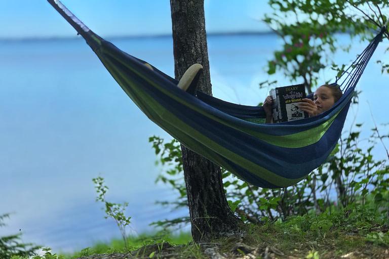 Kid on a hammock