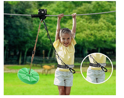 kid in a zipline