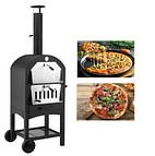 portable black pizza oven